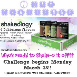 7 Day Shakeo Challenge